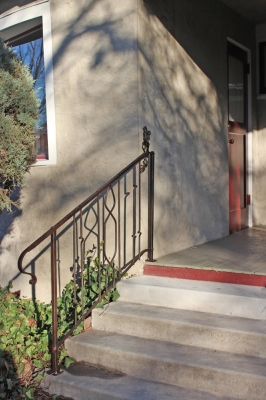 Forged Steel Railing with Brown Patina